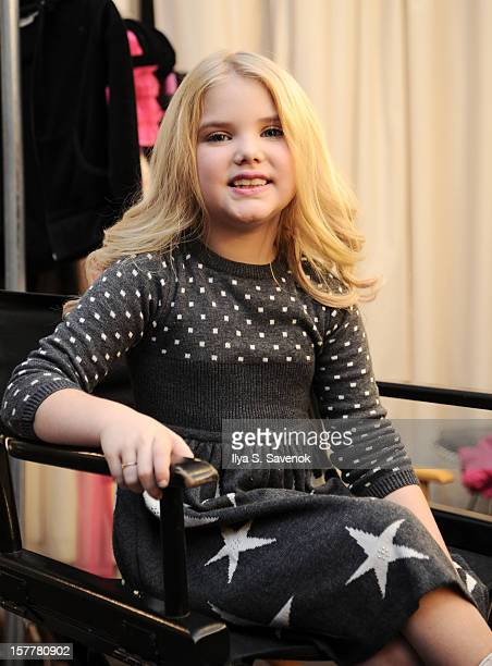 TV personality Eden Wood backstage during Eden Wood and Isabella Barrett 'LOL' Music video shoot at Picture Ray Studios on December 6 2012 in New...