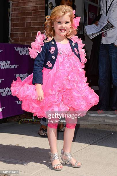 TV personality Eden Wood leaves the 'Wendy Williams Show' taping at the AMV Studios on April 16 2012 in New York City