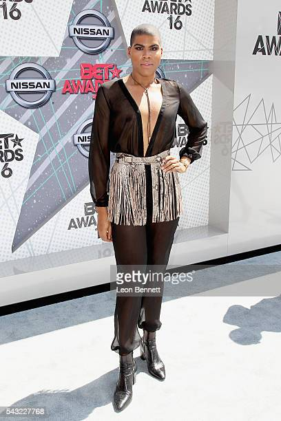 TV personality EJ Johnson attends the Make A Wish VIP Experience at the 2016 BET Awards on June 26 2016 in Los Angeles California