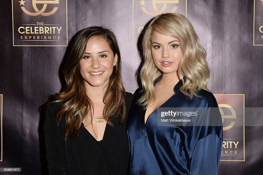 TV Personality Electra Formosa(L) and actress Debby Ryan(R) arrive at The Celebrity Experience with Debby Ryan at Hilton Universal Hotel on January 6, 2016 in Los Angeles, California.