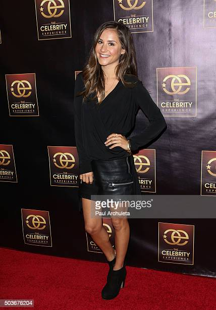 Personality Electra Formosa attends the Celebrity Experience at The Hilton Universal Hotel on January 6 2016 in Los Angeles California