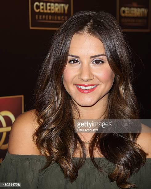 Personality Electra Formosa attends 'The Celebrity Experience' panel at The Universal Hilton Hotel on July 12 2015 in Universal City California