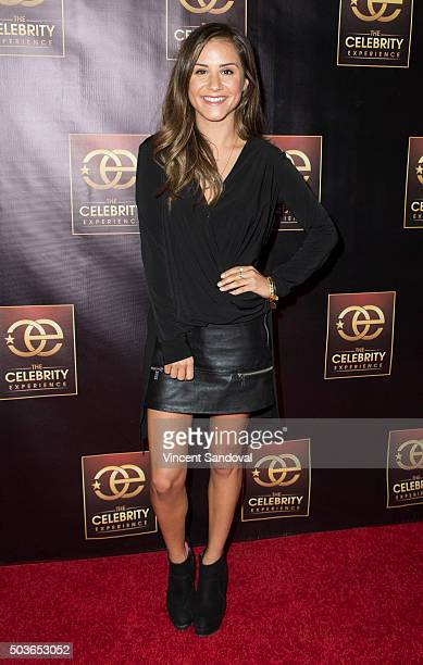 Personality Electra Formosa attends The Celebrity Experience with Debby Ryan at Hilton Universal Hotel on January 6 2016 in Los Angeles California