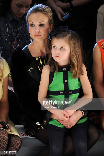 TV personality Elisabeth Hasselbeck and daughter Grace attend the Milly by Michelle Smith Fall 2011 fashion show during MercedesBenz Fashion Week at...