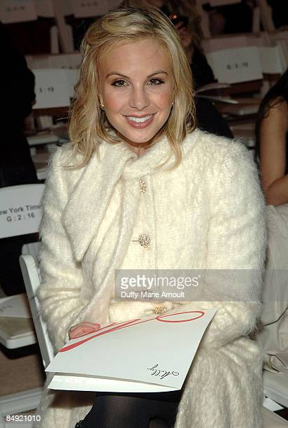 Personality Elisabeth Hasselbeck attends Milly by Michelle Smith Fall 2009 during Mercedes-Benz Fashion Week at The Promenade in Bryant Park on...