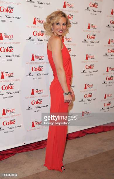 TV personality Elisabeth Hasselbeck attends the The Heart Truth Red Dress Collection Fall 2010 fashion show during MercedesBenz Fashion Week at...