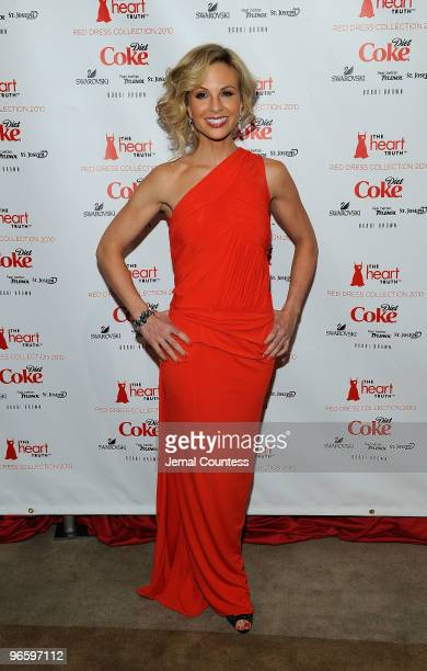 TV personality Elisabeth Hasselbeck backstage at the Heart Truth Fall 2010 Fashion Show during MercedesBenz Fashion Week at The Tent at Bryant Park...