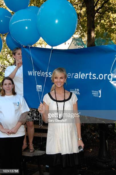 TV Personality Elisabeth Hasselbeck Helps Launch the Wireless AMBER Alert Campaign at Madison Square Park September 24 2007 in New York City