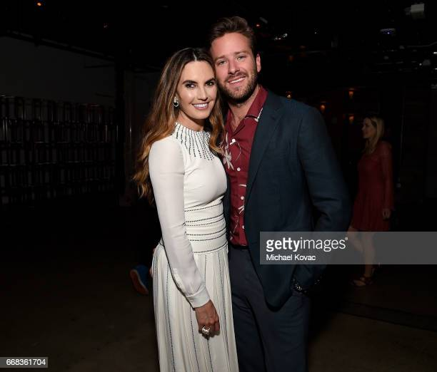 """Personality Elizabeth Chambers and actor Armie Hammer attend the after party for The Los Angeles Premiere Of """"Free Fire"""" Presented By Casa Noble..."""