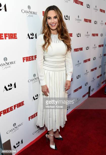 TV personality Elizabeth Chambers attends The Los Angeles Premiere Of 'Free Fire' Presented By Casa Noble Tequila on April 13 2017 in Los Angeles...