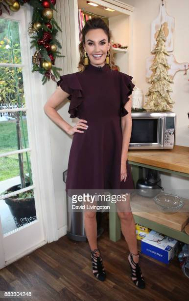 TV personality Elizabeth Chambers Hammer visits Hallmark's Home Family at Universal Studios Hollywood on November 30 2017 in Universal City California