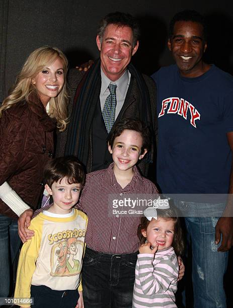 Personality Elizabeth Hasselback Actors Barry Williamsson Brandon Eric WilliamsNorm Lewis Trevor Braun and Grace Hasselback pose as they visit...