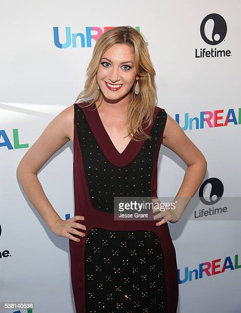 TV personality Elizabeth Wagmeister attends The Emmy FYC Screening With The UnREAL Cast and Executive Producers hosted by Lifetime at Harmony Gold...