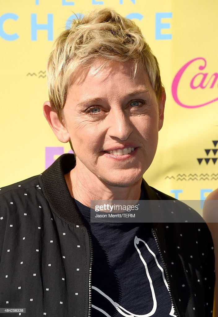 TV personality Ellen DeGeneres attends the Teen Choice Awards 2015 at the USC Galen Center on August 16, 2015 in Los Angeles, California.