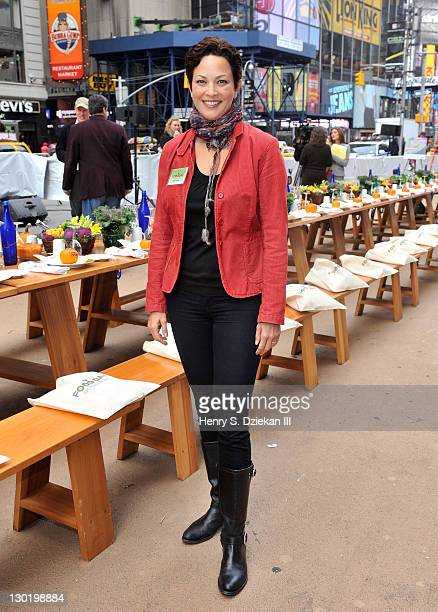 TV personality Ellie Krieger attends Eat Real EatIn at Military Island Times Square on October 24 2011 in New York City