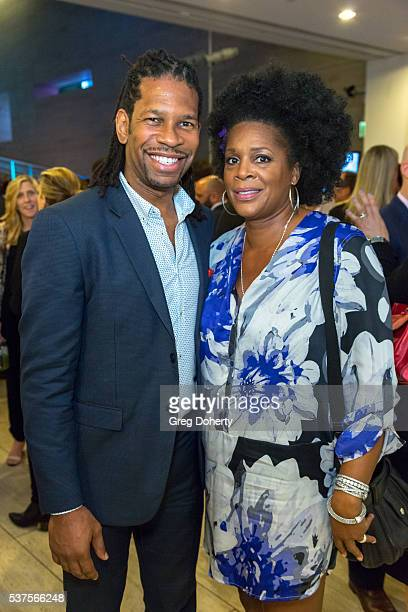 Personality Elzie Lee LZ Granderson and guest attend the Premiere Of ESPN Films' 'OJ Made In America' at The Paley Center for Media on June 1 2016 in...