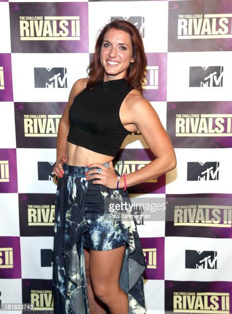 TV personality Emily Schromm attends MTV's The Challenge Rivals II Final Episode and Reunion Party at Chelsea Studio B on September 25 2013 in New...