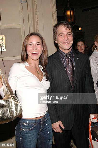 TV personality Ereka Vetrini and actor Tony Danza attend Lucky Magazine's VIP Preview to benefit the Robin Hood Foundation at Gotham Hall on November...