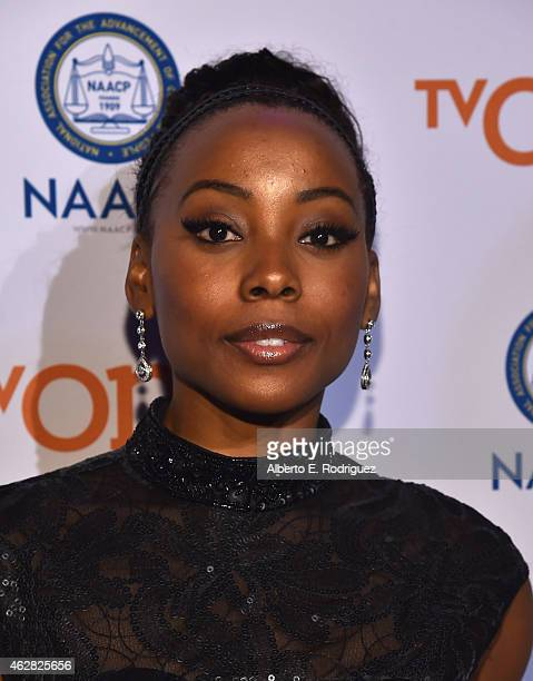 TV personality Erica Ash attends the 46th NAACP Image Awards NonTelevised Awards Ceremony at Pasadena Convention Center on February 5 2015 in...