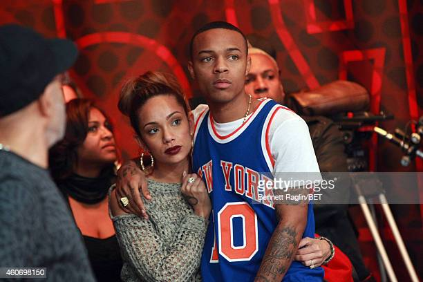 Personality Erica Mena and Shad Moss attend 106 Park Finale at CBS Studios on December 19 2014 in New York City