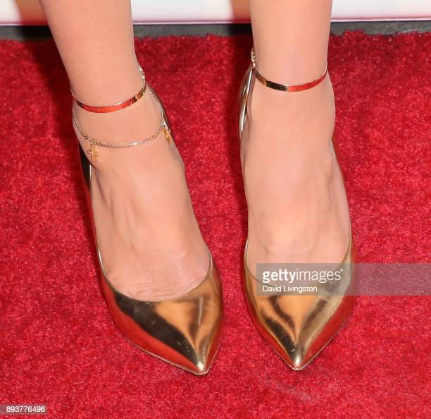 TV personality Erika Girardi shoe detail attends the premiere of Bravo's 'The Real Housewives of Beverly Hills' at Doheny Room on December 15 2017 in...