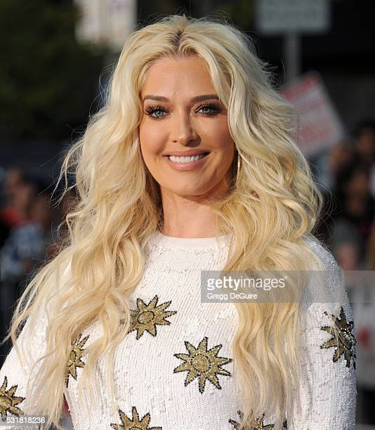 TV personality Erika Jayne of Real Housewives of Beverly Hills arrives at the premiere of Universal Pictures' 'Neighbors 2 Sorority Rising' on May 16...