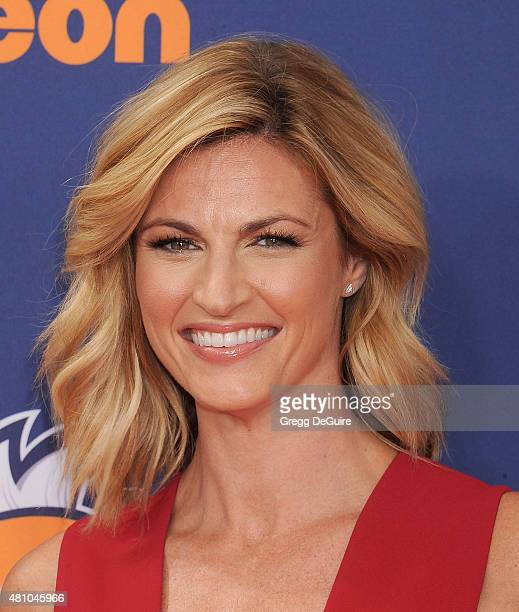 TV personality Erin Andrews arrives at the Nickelodeon Kids' Choice Sports Awards 2015 at UCLA's Pauley Pavilion on July 16 2015 in Westwood...