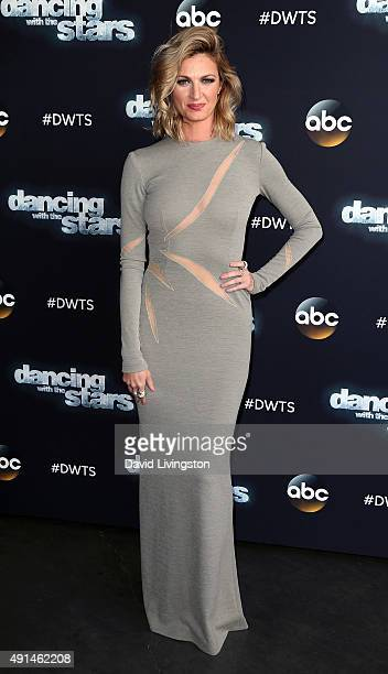 TV personality Erin Andrews attends 'Dancing with the Stars' Season 21 at CBS Televison City on October 5 2015 in Los Angeles California