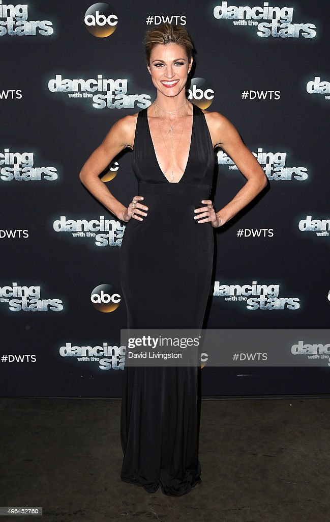 TV personality Erin Andrews attends 'Dancing with the Stars' Season 21 at CBS Televison City on November 9, 2015 in Los Angeles, California.