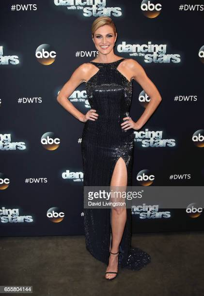 TV personality Erin Andrews attends Dancing with the Stars Season 24 premiere at CBS Televison City on March 20 2017 in Los Angeles California