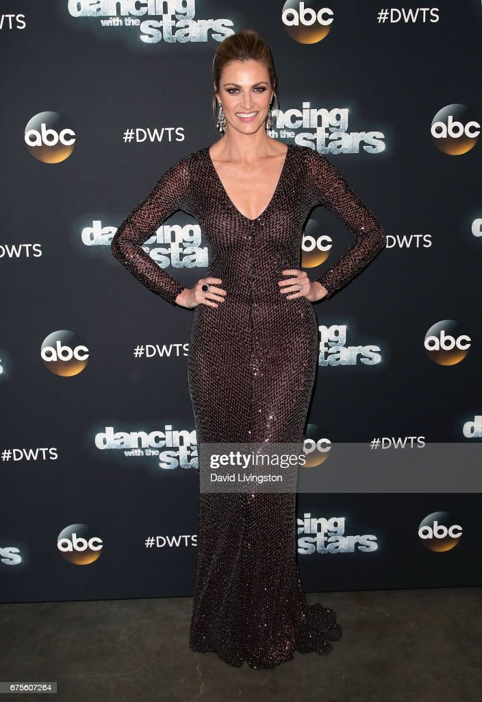 TV personality Erin Andrews attends 'Dancing with the Stars' Season 24 at CBS Televison City on May 1, 2017 in Los Angeles, California.