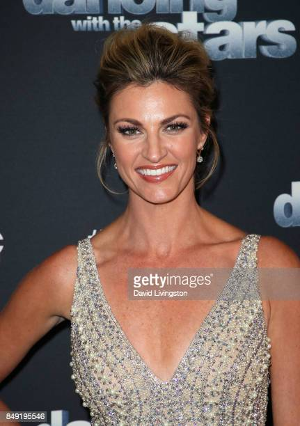 TV personality Erin Andrews attends 'Dancing with the Stars' season 25 at CBS Televison City on September 18 2017 in Los Angeles California