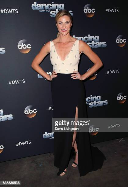TV personality Erin Andrews attends 'Dancing with the Stars' season 25 at CBS Televison City on September 25 2017 in Los Angeles California