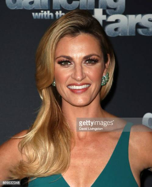 TV personality Erin Andrews attends 'Dancing with the Stars' season 25 at CBS Televison City on October 9 2017 in Los Angeles California