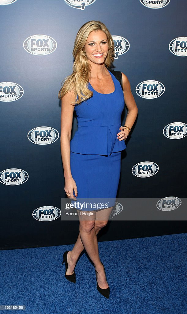 TV personality Erin Andrews attends the 2013 Fox Sports Media Group Upfront after party at Roseland Ballroom on March 5, 2013 in New York City.