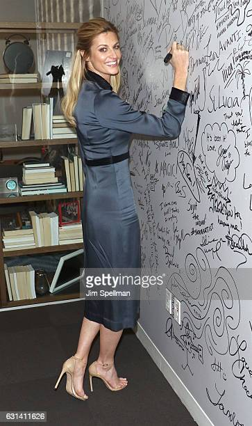 TV personality Erin Andrews attends the Build series to discuss Orange Theory at AOL HQ on January 10 2017 in New York City