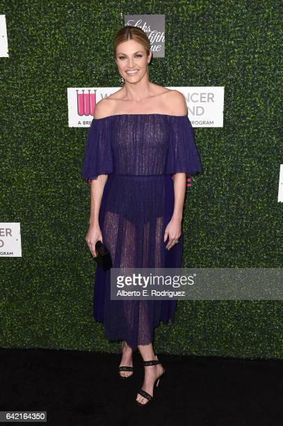 """Personality Erin Andrews attends WCRF's """"An Unforgettable Evening"""" presented by Saks Fifth Avenue at the Beverly Wilshire Four Seasons Hotel on..."""