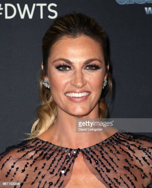 TV personality Erin Andrews poses at ABC's 'Dancing with the Stars Athletes' Season 26 Finale on May 21 2018 in Los Angeles California