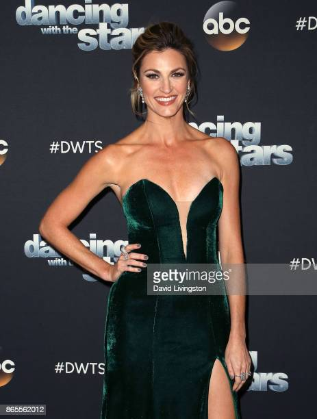 TV personality Erin Andrews poses at 'Dancing with the Stars' season 25 at CBS Televison City on October 23 2017 in Los Angeles California