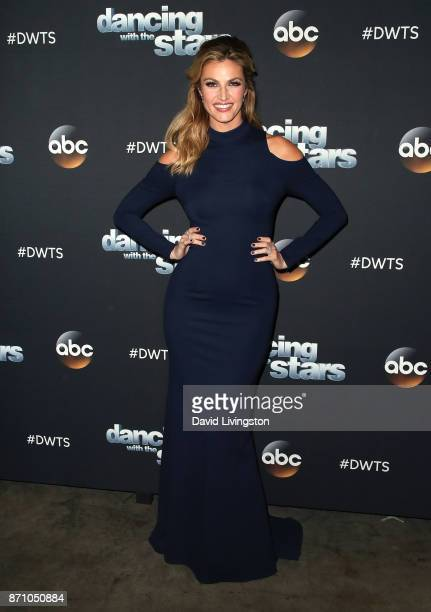 TV personality Erin Andrews poses at 'Dancing with the Stars' season 25 at CBS Televison City on November 6 2017 in Los Angeles California