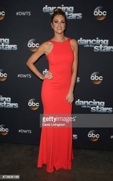 TV personality Erin Andrews poses at 'Dancing with the Stars' season 25 at CBS Televison City on November 13 2017 in Los Angeles California