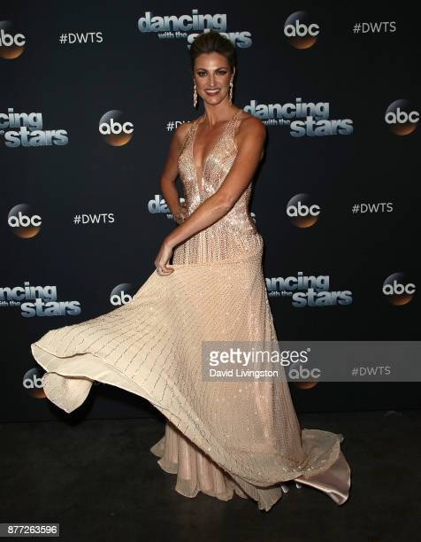 TV personality Erin Andrews poses at 'Dancing with the Stars' season 25 at CBS Televison City on November 21 2017 in Los Angeles California