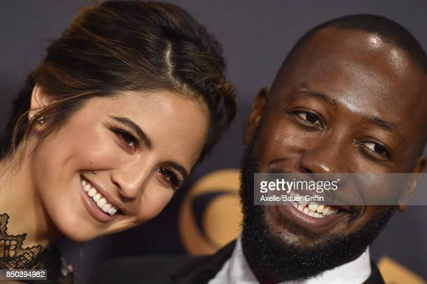 TV personality Erin Lim and actor Lamorne Morris arrive at the 69th Annual Primetime Emmy Awards at Microsoft Theater on September 17 2017 in Los...