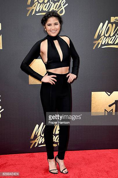 TV personality Erin Lim attends the 2016 MTV Movie Awards at Warner Bros Studios on April 9 2016 in Burbank California MTV Movie Awards airs April 10...