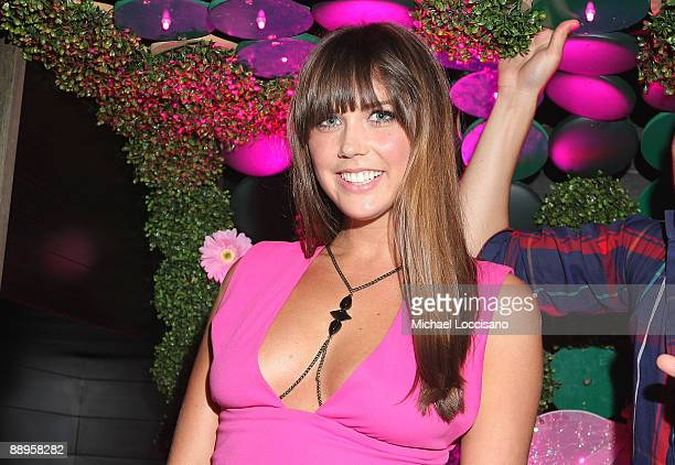 TV personality Erin Lucas attends the ThreeO Vodka Bubble launch at Greenhouse on July 9 2009 in New York City