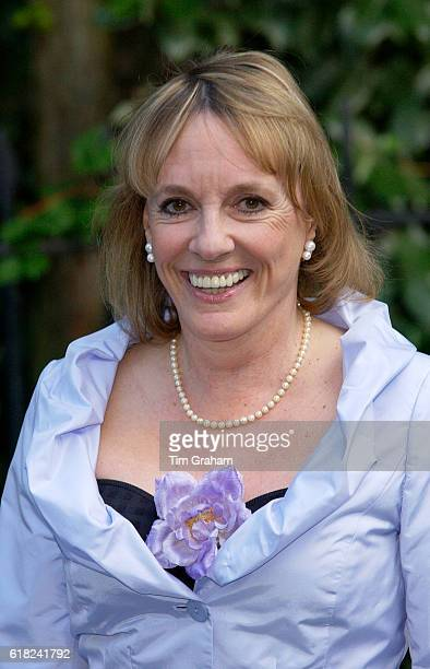 TV personality Esther Rantzen attends a celebrity party hosted by broadcaster Sir David Frost in Chelsea