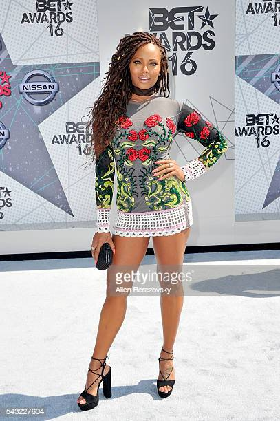 TV personality Eva Marcille attends the 2016 BET Awards at Microsoft Theater on June 26 2016 in Los Angeles California