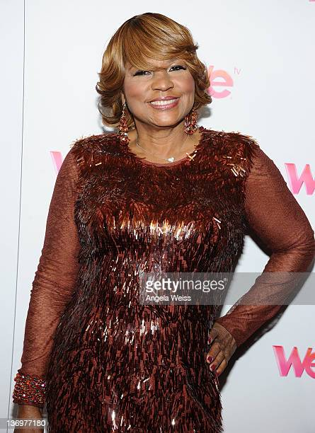 TV personality Evelyn Braxton arrives at WE tv's Family Affair 2012 Winter TCA event at Langham Hotel on January 13 2012 in Pasadena California