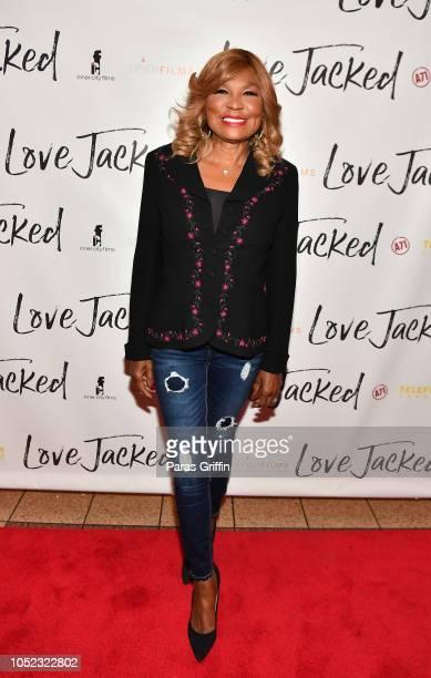 "Personality Evelyn Braxton attends ""Love Jacked"" Atlanta VIP screening at Regal Atlantic Station on October 16, 2018 in Atlanta, Georgia."