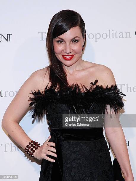 TV personality Fabiola Beracasa attends the Metropolitan Opera gala permiere of Armida at The Metropolitan Opera House on April 12 2010 in New York...
